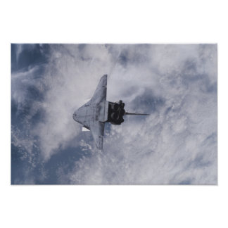 Esfuerzo 3 del transbordador espacial póster