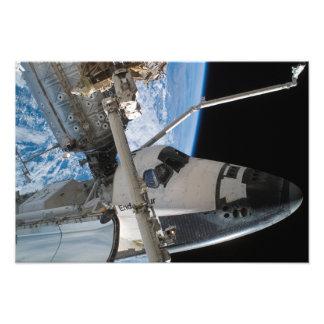 Esfuerzo 5 del transbordador espacial fotos