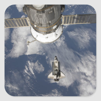 Esfuerzo 8 del transbordador espacial pegatina cuadrada