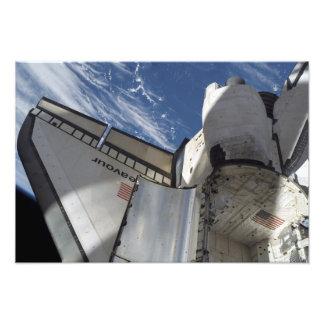 Esfuerzo 9 del transbordador espacial fotografías