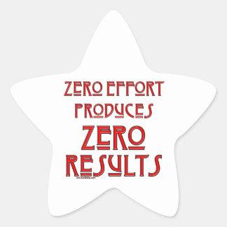 Esfuerzo cero… pegatina en forma de estrella