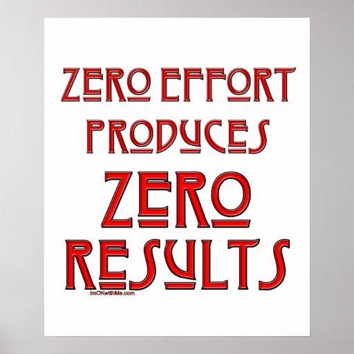 Esfuerzo cero… póster