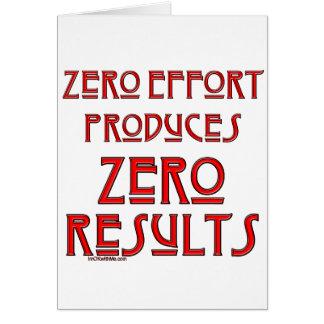 Esfuerzo cero… tarjeta de felicitación