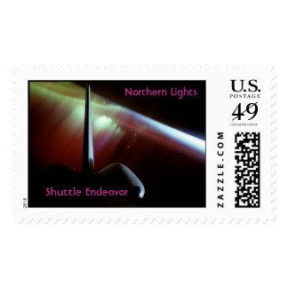 Esfuerzo de la lanzadera, aurora boreal, sellos