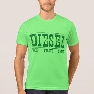 Esfuerzo de torsión diesel y humo del poder playeras