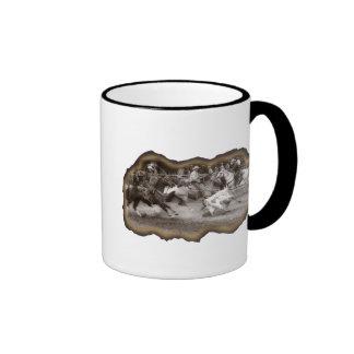 Esfuerzo del equipo taza de café