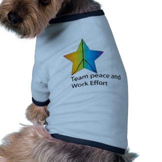 esfuerzo del equipo y del trabajo camisetas de perro