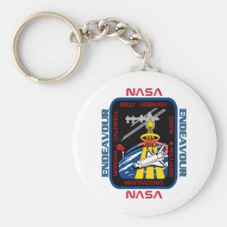 Esfuerzo del STS 118 Llavero Redondo Tipo Pin