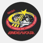 Esfuerzo del STS 123 Pegatina Redonda