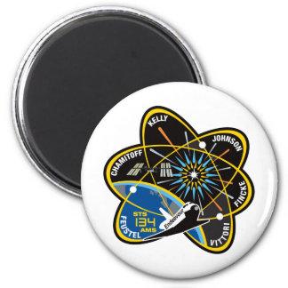 Esfuerzo del STS 134 Imán Redondo 5 Cm