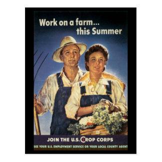 Esfuerzo del trabajo de la guerra - posters del postales