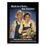 Esfuerzo del trabajo de la guerra - posters del tr tarjeta postal