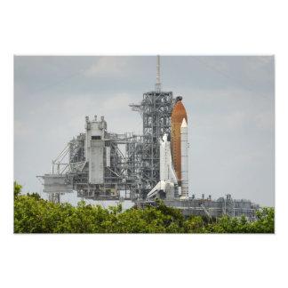 Esfuerzo del transbordador espacial en la arte fotografico