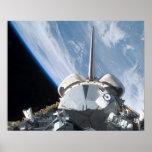 Esfuerzo del transbordador espacial poster