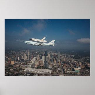 Esfuerzo del transbordador espacial sobre Houston  Póster