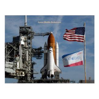 Esfuerzo del transbordador espacial tarjeta postal