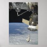Esfuerzo del transbordador espacial, una nave espa posters