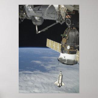 Esfuerzo del transbordador espacial, una nave póster