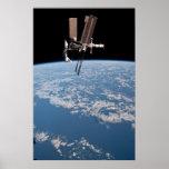Esfuerzo del transbordador espacial y ISS Posters