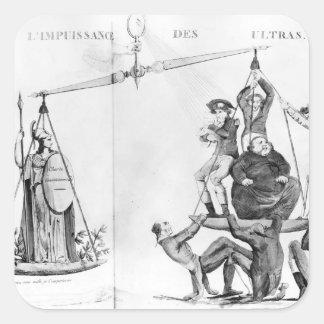 Esfuerzos inútiles del Ultras, 1819 Pegatina Cuadrada