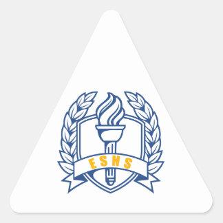 ESHS Honors, scholar, symbol Triangle Stickers