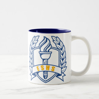 ESHS Honors, scholar, symbol Two-Tone Coffee Mug