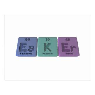 Esker-Es-K-Er-Einsteinium-Potassium-Erbium.png Postcard