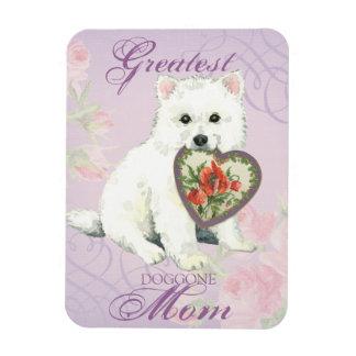 Eskie Heart Mom Magnet