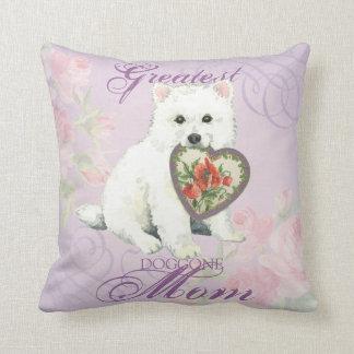 Eskie Heart Mom Throw Pillow