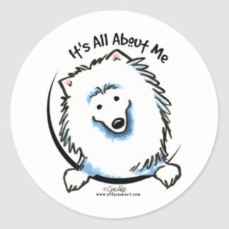 Eskie Its All About Me Classic Round Sticker