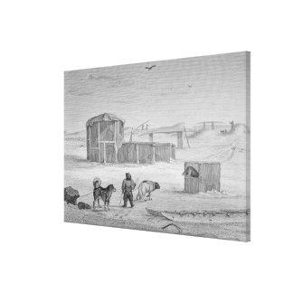 Eskimaux House, built of ice, Igloolik, 1822, from Canvas Print
