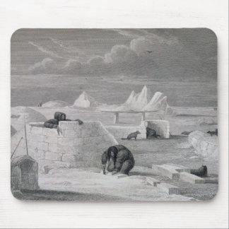 Eskimaux que construye una Nieve-Choza, del 'diari Alfombrilla De Raton