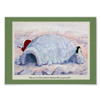 Eskimo and Penguin Posters