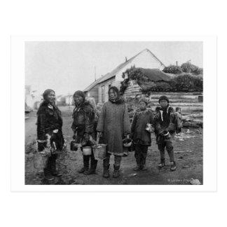 Eskimo Berry Pickers in Nome, Alaska Photograph Postcard