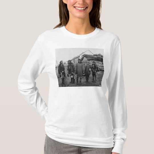 Eskimo Berry Pickers in Nome, Alaska Photograph T-Shirt