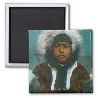 "Eskimo Boy named ""Menadelook"" Magnet"