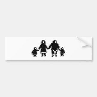 Eskimo Family Car Bumper Sticker
