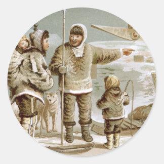 Eskimo Family Classic Round Sticker