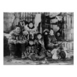 Eskimo Family in Winter Igloo Photograph Posters