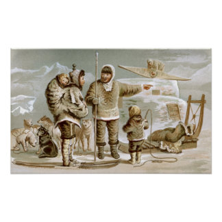 Eskimo Family Poster