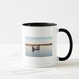Eskimo Fishing Boat on the River Mug
