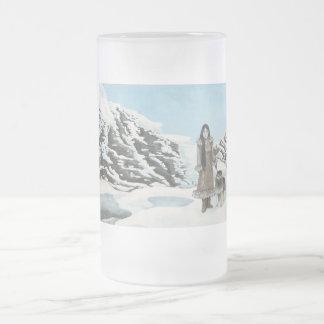 Eskimo Frosted Glass Beer Mug