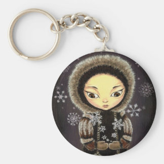 Eskimo girl keychain