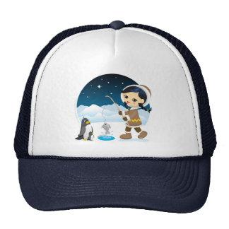 Eskimo girl trucker hat
