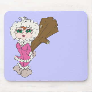 Eskimo Girl With Club Mousepad