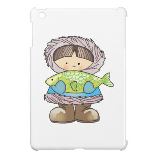 ESKIMO HOLDING FISH iPad MINI COVERS