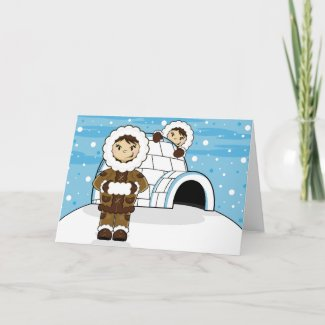 Eskimo & Igloo Card card