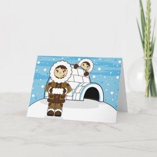 Eskimo & Igloo Card card