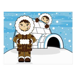 Eskimo & Igloo Postcard