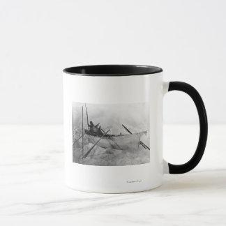 Eskimo in Boat made with Skins called an Omiak Mug